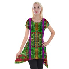 A Gift Given By Love Short Sleeve Side Drop Tunic