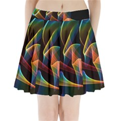 Crystal Rainbow, Abstract Winds Of Love  Pleated Mini Skirt