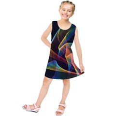 Crystal Rainbow, Abstract Winds Of Love  Kids  Tunic Dress