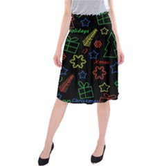 Playful Xmas pattern Midi Beach Skirt