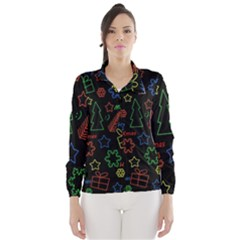 Playful Xmas pattern Wind Breaker (Women)
