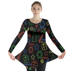 Playful Xmas pattern Long Sleeve Tunic