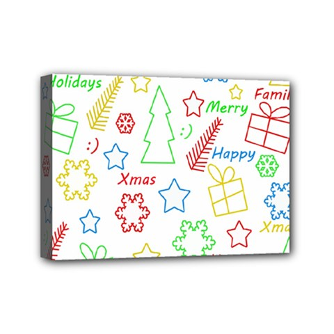 Simple Christmas pattern Mini Canvas 7  x 5