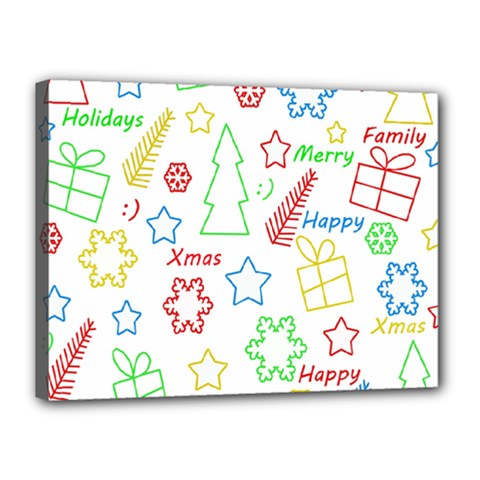 Simple Christmas pattern Canvas 16  x 12