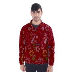 Red Xmas pattern Wind Breaker (Men)