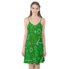 Green Xmas pattern Camis Nightgown