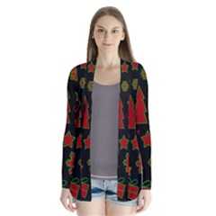 Red and green Xmas pattern Cardigans