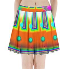 Crossroads Of Awakening, Abstract Rainbow Doorway  Pleated Mini Skirt