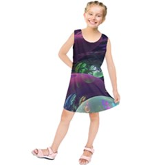 Creation Of The Rainbow Galaxy, Abstract Kids  Tunic Dress