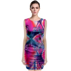 Cosmic Heart Of Fire, Abstract Crystal Palace Classic Sleeveless Midi Dress
