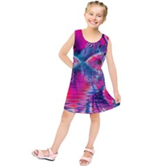 Cosmic Heart Of Fire, Abstract Crystal Palace Kids  Tunic Dress