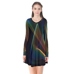 Abstract Rainbow Lily, Colorful Mystical Flower  Flare Dress