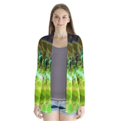 Dawn Of Time, Abstract Lime & Gold Emerge Cardigans