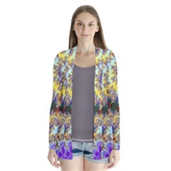 Desert Winds, Abstract Gold Purple Cactus  Cardigans