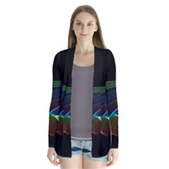Flowing Fabric Of Rainbow Light, Abstract  Cardigans