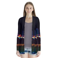 Fluted Cosmic Rafluted Cosmic Rainbow, Abstract Winds Cardigans