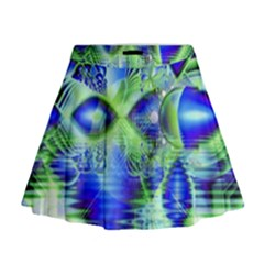 Irish Dream Under Abstract Cobalt Blue Skies Mini Flare Skirt