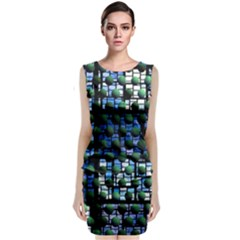 Looking Out At Night, Abstract Venture Adventure (venture Night Ii) Classic Sleeveless Midi Dress