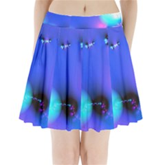 Love In Action, Pink, Purple, Blue Heartbeat 10000x7500 Pleated Mini Skirt