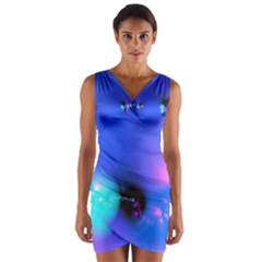 Love In Action, Pink, Purple, Blue Heartbeat 10000x7500 Wrap Front Bodycon Dress