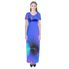 Love In Action, Pink, Purple, Blue Heartbeat 10000x7500 Short Sleeve Maxi Dress