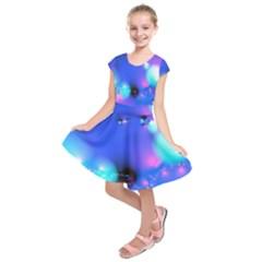 Love In Action, Pink, Purple, Blue Heartbeat 10000x7500 Kids  Short Sleeve Dress