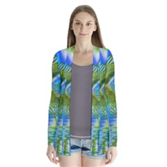 Mystical Spring, Abstract Crystal Renewal Cardigans