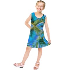 Mystical Spring, Abstract Crystal Renewal Kids  Tunic Dress