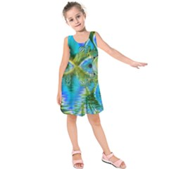 Mystical Spring, Abstract Crystal Renewal Kids  Sleeveless Dress