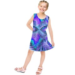 Peacock Crystal Palace Of Dreams, Abstract Kids  Tunic Dress