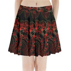 Phenomenon, Orange Gold Cosmic Explosion Pleated Mini Skirt