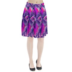Rose Crystal Palace, Abstract Love Dream  Pleated Skirt