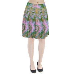 Rose Forest Green, Abstract Swirl Dance Pleated Skirt