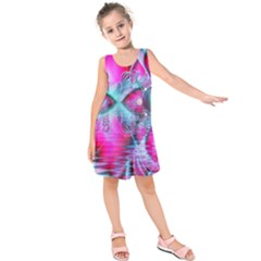 Ruby Red Crystal Palace, Abstract Jewels Kids  Sleeveless Dress