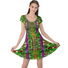 A Gift Given By Love Cap Sleeve Dresses