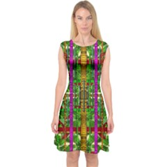 A Gift Given By Love Capsleeve Midi Dress