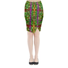 A Gift Given By Love Midi Wrap Pencil Skirt