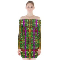 A Gift Given By Love Long Sleeve Off Shoulder Dress