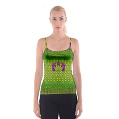 Flowers And Yoga In The Wind Spaghetti Strap Top