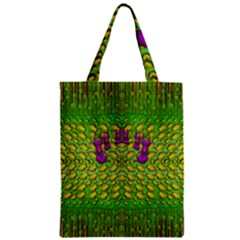 Flowers And Yoga In The Wind Zipper Classic Tote Bag