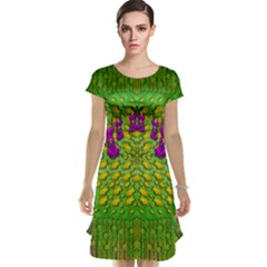 Flowers And Yoga In The Wind Cap Sleeve Nightdress