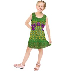 Flowers And Yoga In The Wind Kids  Tunic Dress