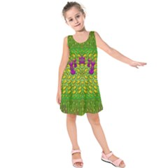 Flowers And Yoga In The Wind Kids  Sleeveless Dress