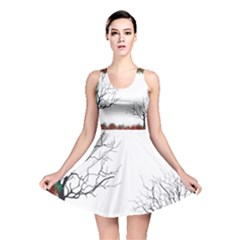 Frame Trees Autumn Decoration Reversible Skater Dress