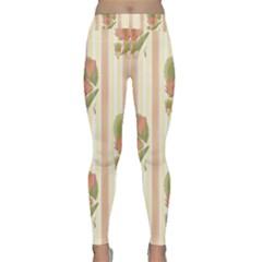 Lotus Flower Waterlily Wallpaper Classic Yoga Leggings