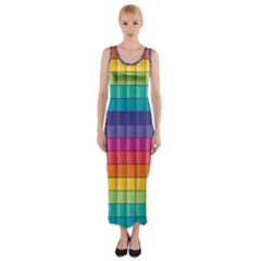 abstract Pattern  Fitted Maxi Dress