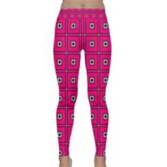 Pink Pattern Squares Design Classic Yoga Leggings