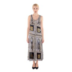 Post Office Old Vintage Building Sleeveless Maxi Dress