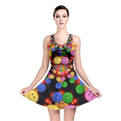 Smiley Laugh Funny Cheerful Reversible Skater Dress