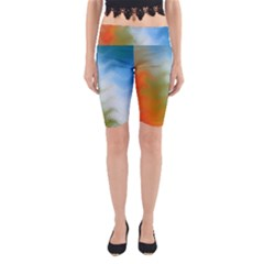 Texture Glass Colors Rainbow Yoga Cropped Leggings